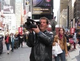 Vera en pleno rodaje en Nueva York