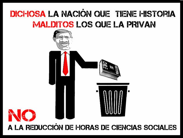 Volante contra la reducción de horas de Ciencias Sociales | Camilo Inostroza Gutiérrez