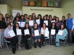Mujeres reciben certificado de capacitación