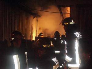 Incendio en Lebu. | Claudio Rojas Neira