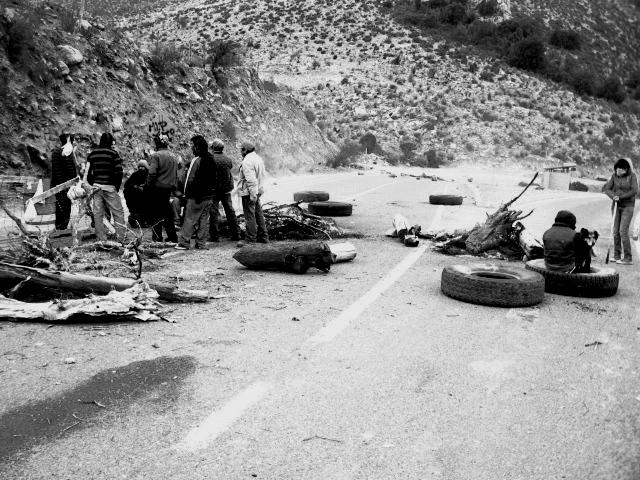 Caimanes se toma acceso a Minera Los Pelambres | Milca Ulloa