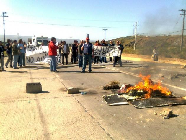 Protesta del CRC en baipás de Coronel | Pedro Cid