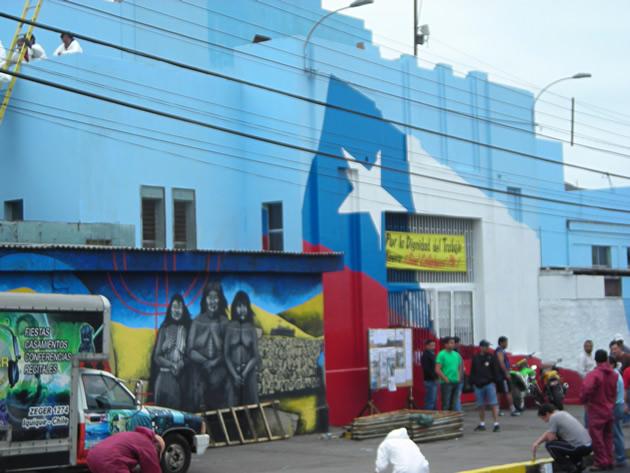 Toma de escuela Santa María de Iquique | Mauricio Contador