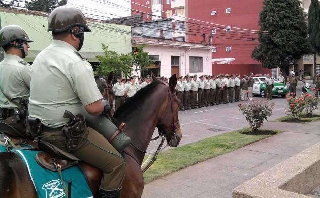 Refuerzo policial en La Araucanía