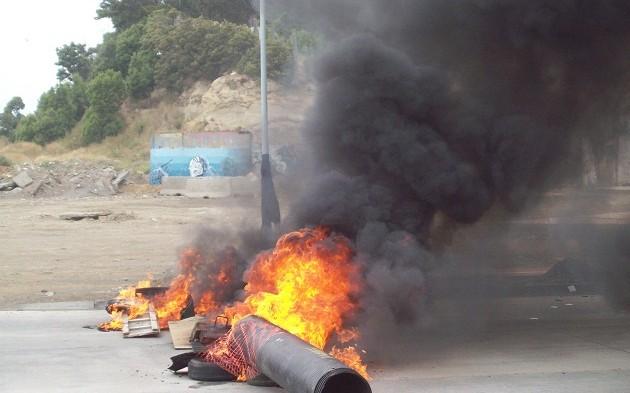 Protesta de portuarios en Talcahuano