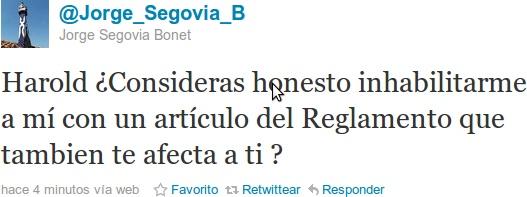 Jorge Segovia en Twitter