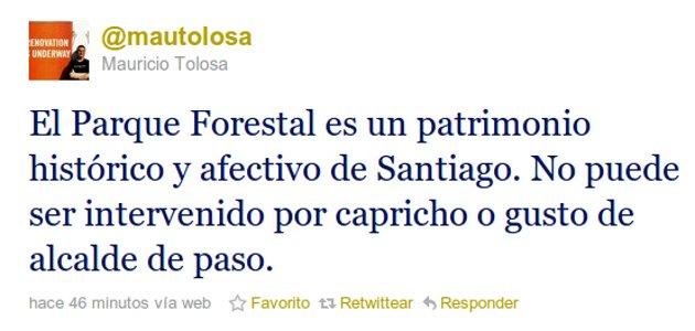 2.- Mauricio Tolosa en Twitter