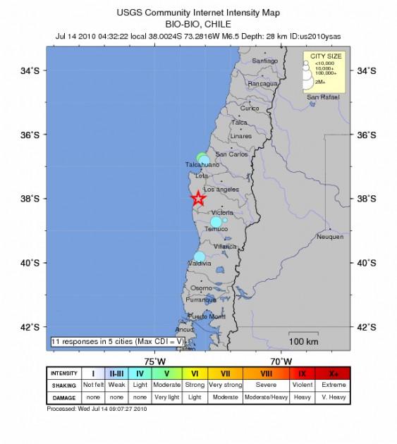 Detalle del sismo del 14 de julio | USGS