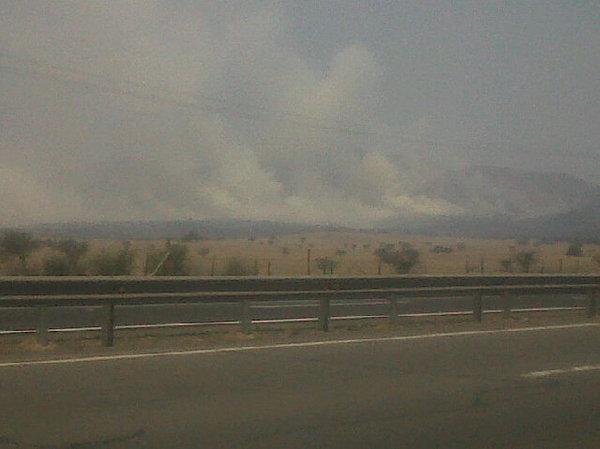 Incendio Forestal / Imagen: @claudionunezc en Twitter