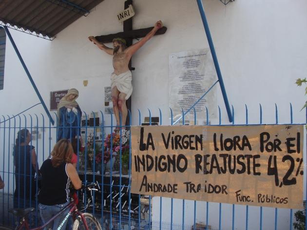 Dicen que la virgen llora por el reajuste al sector público | Rodrigo Palacios