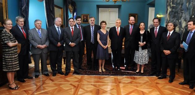 Presidente Piñera y timoneles de partidos | Fotopresidencia.cl