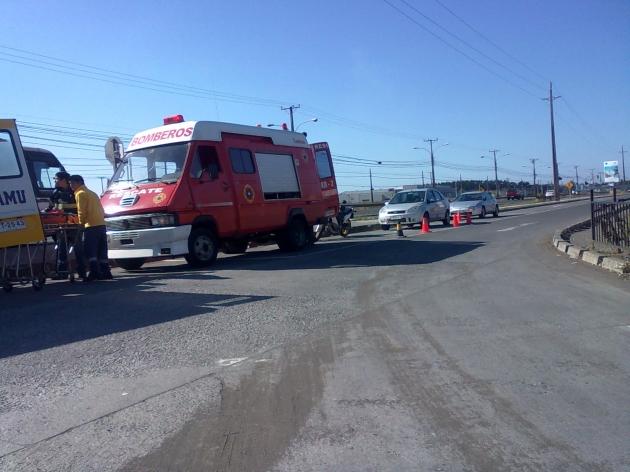 Menor cae desde microbús en Ruta 160 | Pablo Alvear