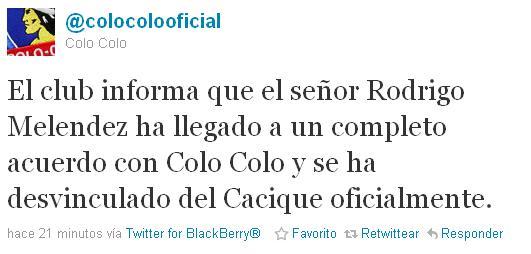 Colo Colo en Twitter