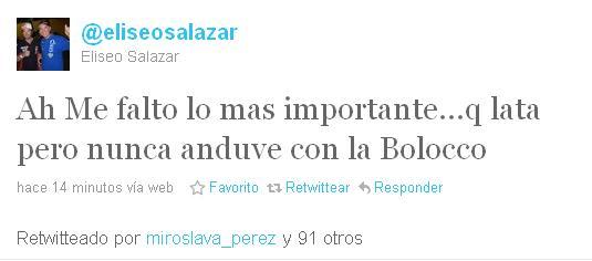 Eliseo Salazar en Twitter