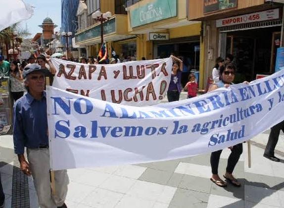 Arica: Marcha ciudadana contra la Minería   Alejandra Flores