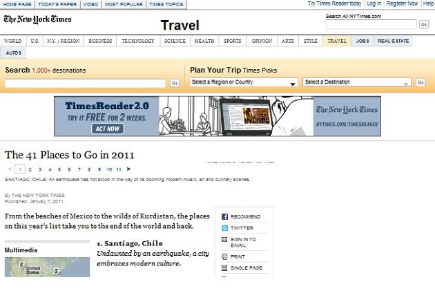 Portal de The New York Times
