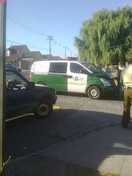 Carabineros colisiona a camioneta en Talca | Foto: Miguel García