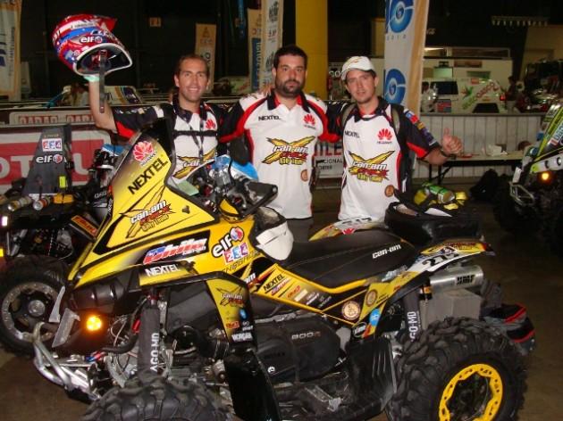 Ramírez, Fuenzalida y López / Imagen: Can-Am Chile Rally Team (Oficial)