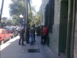 Operativo policial en calle Seminario | Foto: Rodrigo Pino