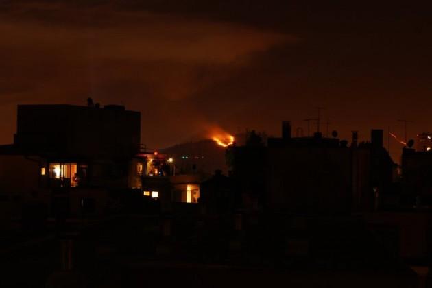 Incendio en Cerro Blanco | Claudio Arzola (Facebook)