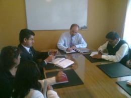 Reunión de autoridades de Santa Juana y SEC   Foto: Omar Sanhueza