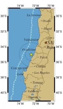 Epicentro delsSismo   sismologia.cl