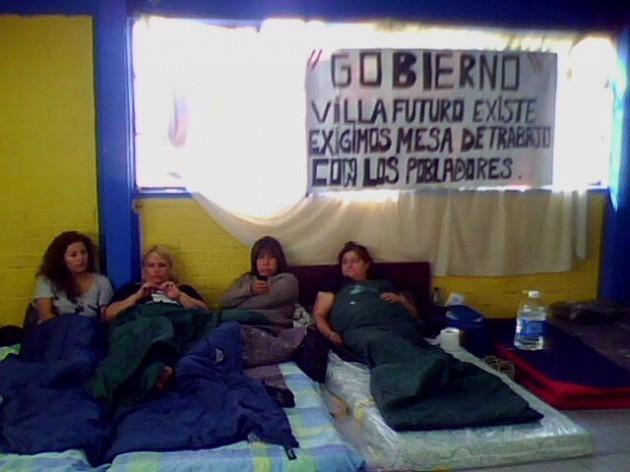 Huelga en Villa Futuro