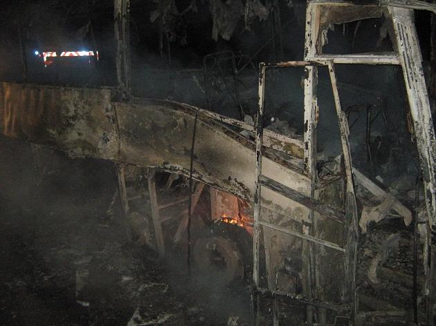 Bus incendiado | Efrain Lillo