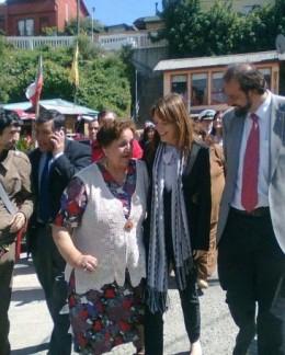 Ministra Von Baer en Valdivia