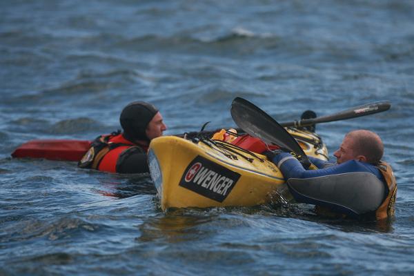 Prueba de seguridad y kayak