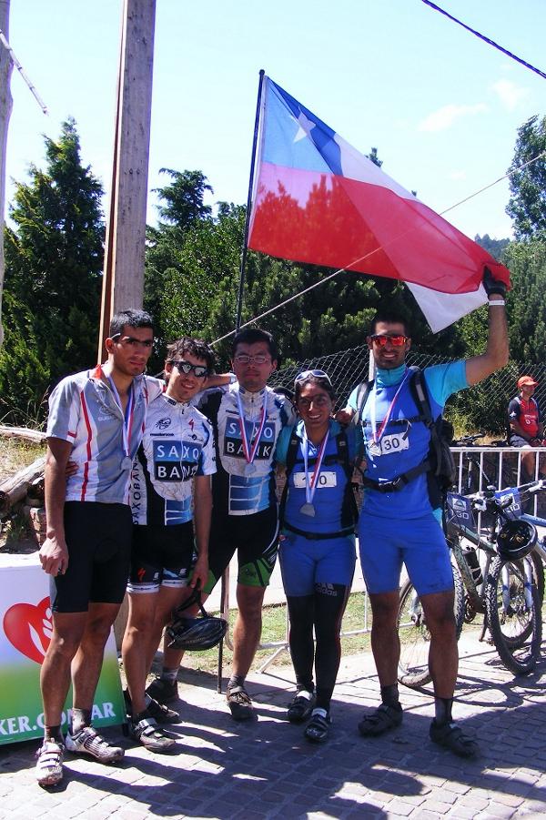 Representantes chilenos en el Tour internacional de la Patagonia