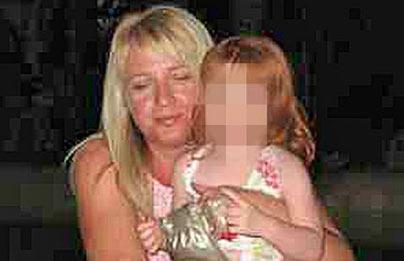 Tracey Grinhaff y una de sus hijas