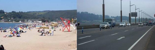 Dichato y Puente Llacolén en su estado actual según comunicado del MOP