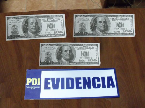 Billetes falsificados