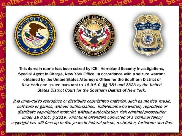 Mensaje que aparece al ingresar al sitio Rojadirecta.org