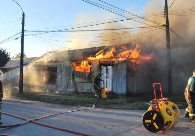 Incendio en Temuco
