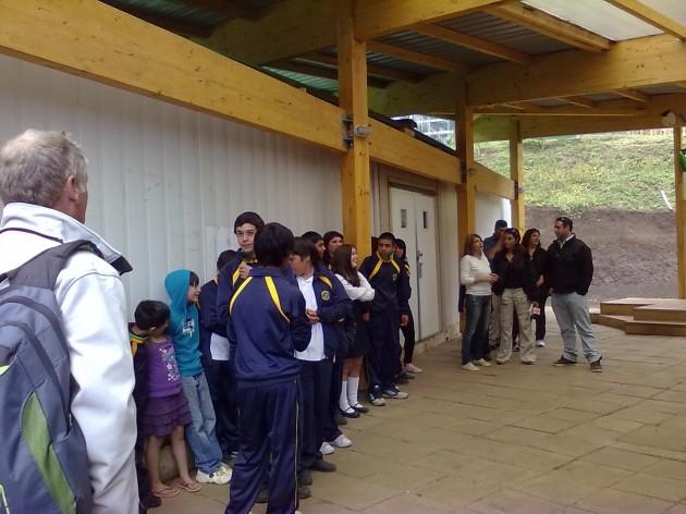 Visita a escuela de Juan Fernández | Foto: Alejandro Arias