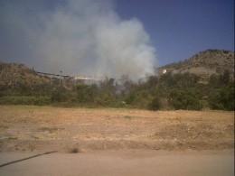 Incendio en La Pirámide / Luchocuello en Twitter