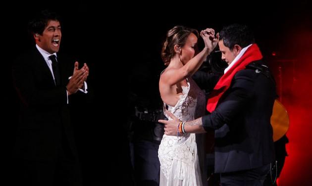 Alejandro Sanz y Eva Gómez | Agencia UNO