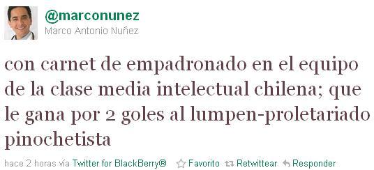 Marco Antonio Núñez en Twitter