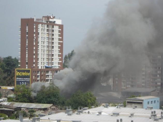 Imagen del incendio | Vigo Yosh en Facebook