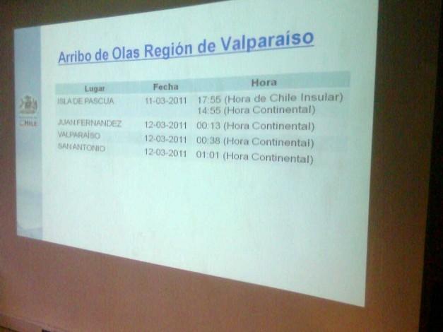Reunión Comité de Emergencia en Valparaíso