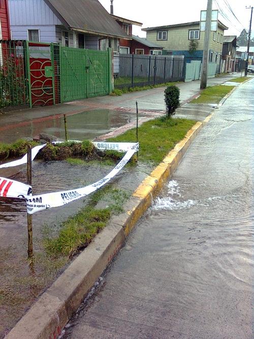 Rotura de matriz en Puerto Montt | Mauricio Baeza