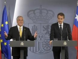 Presidentes Piñera y Zapatero | fotopresidencia