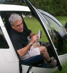 Presidente Piñera en helicóptero | R. Aguilera