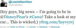 Lewis Hamilton en Twitter
