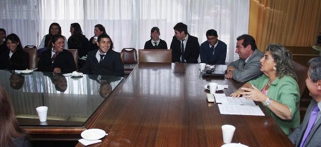 Reunión entre estudiantes y autoridades de Viña del Mar