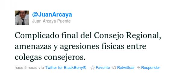 Juan Arcaya en Twitter.