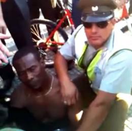 Detención por cruzar con luz roja en Santiago