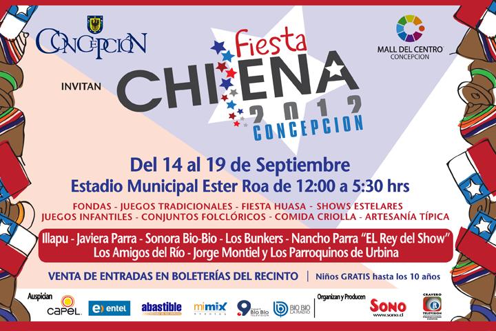 """Afiche """"Fiesta Chilena 2012″ Concepción"""